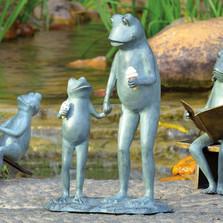 "Frog Parent And Child Garden Sculpture ""Summertime Treat"" | 34565"