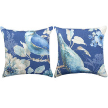Bird Indigo Reversible Indoor/Outdoor Pillow | Manual Woodworkers | SLINBR