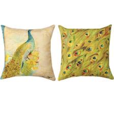 Peacock Reversible Indoor/Outdoor Pillow | Manual Woodworkers | SLPCOC