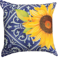 Sunflower Indigo Indoor/Outdoor Pillow | Manual Woodworkers | SLIDSF