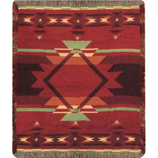 Southwest Flame Tapestry Throw Blanket | Manual Woodworkers | ATFLME