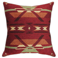 Southwest Flame Tapestry Throw Pillow | Manual Woodworkers | APTQFL