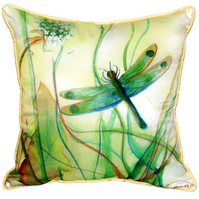 Dragonfly Indoor Outdoor Pillow | Betsy Drake | ZP187