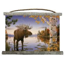 "Moose Canvas Wall Hanging ""Autumn Majestic"" 