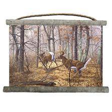 "Deer Canvas Wall Hanging ""Autumn Pursuit"" | Wood Graphixs | WCAP2518"