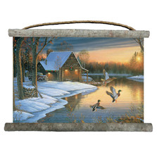 "Mallards Canvas Wall Hanging ""Back Water"" 