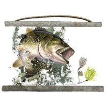 Bass Canvas Wall Hanging | Wood Graphixs | WCBASS2518