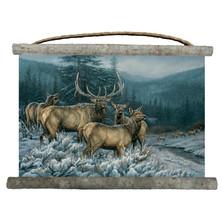 "Elk Canvas Wall Hanging ""Broken Silence"" | Wood Graphixs | WCBSE2518"