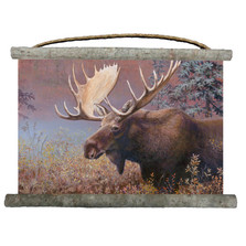 "Moose Canvas Wall Hanging ""Chocolate Moose"" 