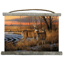 "Deer Canvas Wall Hanging ""Day Break"" 