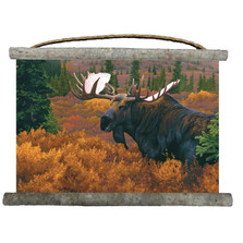 "Moose Canvas Wall Hanging ""Denali Autumn"" 