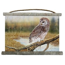 "Owl Canvas Wall Hanging ""Early Hunter"" 