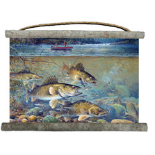 "Fish Canvas Wall Hanging ""Fishermans Walleye"" 