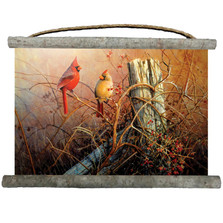 "Cardinals Canvas Wall Hanging ""Frankley Scarlet"" 
