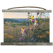 "Goldfinch Canvas Wall Hanging ""Garden Glory"" 