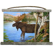 "Moose Canvas Wall Hanging ""Majestic"" 