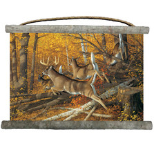 "Deer Canvas Wall Hanging ""Maple Rush"" 