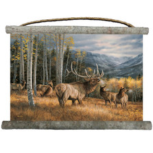 "Elk Canvas Wall Hanging ""Meadow Music"" 