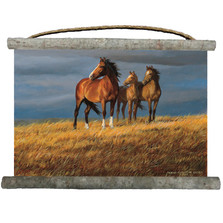 "Horse Canvas Wall Hanging ""On Alert"" 