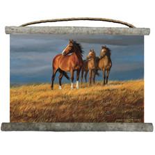 "Horse Canvas Wall Hanging ""On Alert"" | Wood Graphixs | WCOA2518"