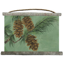 Pine Cones Canvas Wall Hanging | Wood Graphixs | WCPCN2518