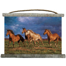 """Horse Canvas Wall Hanging """"Racing The Sun"""" 
