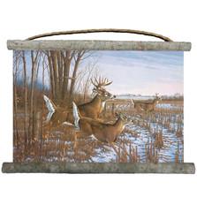 "Deer Canvas Wall Hanging ""Seasons End"" | Wood Graphixs | WCSE2518"
