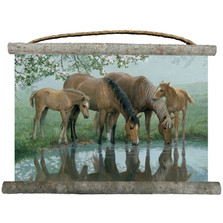 "Horse Canvas Wall Hanging ""Sweet Spring"" 