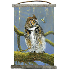 "Owl Canvas Wall Hanging ""Fearless"" 