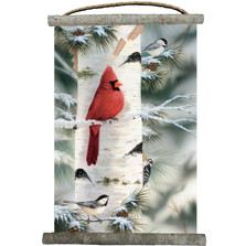"Cardinal Canvas Wall Hanging ""Feathered Friend"" 