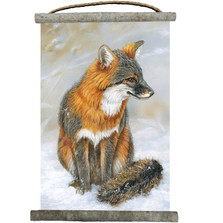 Gray Fox Canvas Wall Hanging | Wood Graphixs | WCGF1825