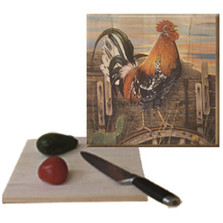 "Rooster Cutting Board ""A New Day"" 