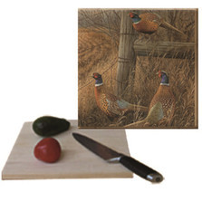 "Pheasant Cutting Board ""Abandoned Fenceline"" 