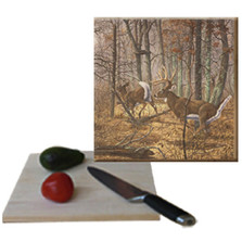 "Deer Cutting Board ""Autumn Pursuit"" 