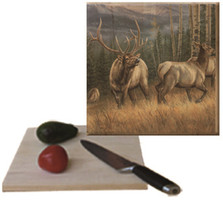 "Elk Cutting Board ""Back Country"" 