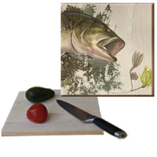 Bass Cutting Board | Wood Graphixs |CBBASS1212