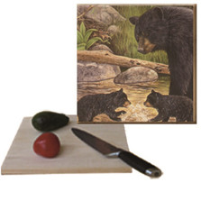 "Bear and Cubs Cutting Board ""Bear Creek Gang"" 