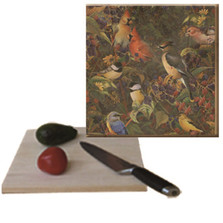 "Songbirds Cutting Board ""Berry Bush"" 