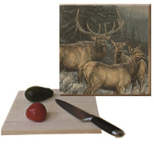 "Elk Cutting Board ""Broken Silence"" 