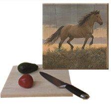 "Horse Cutting Board ""Buckskin Stallion"" 