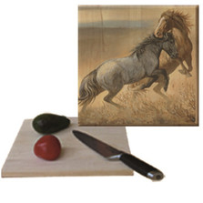 "Horse Cutting Board ""Challenged"" 
