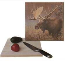 "Moose Cutting Board ""Chocolate Moose"" 