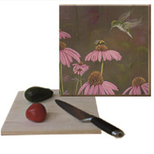 Bee and Hummingbird Cutting Board | Wood Graphixs | CBCBH1212