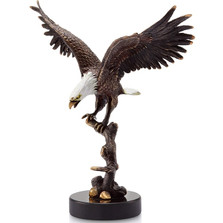 Eagle on Branch Sculpture | 31619 | SPI Home