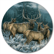 "Elk Lazy Susan ""Broken Silence"" | Wood Graphixs | LSBSE"