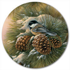 "Chickadee Lazy Susan ""December Dawn"" 