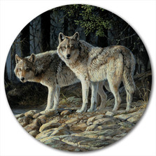 "Wolf Lazy Susan ""Shades of Gray"" 