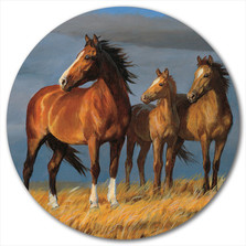 "Horse Lazy Susan ""On Alert"" 