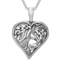 Horse Heart Pendant Necklace | SP510 | Kabana