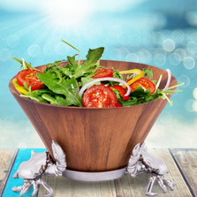 Crab Wood Salad Bowl | Arthur Court Designs | 218C11